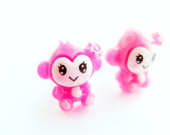 Monkey clip-on earrings