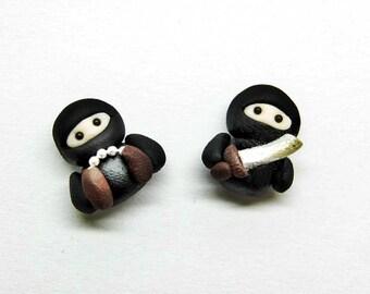 ninja earring studs