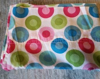 Standard Size Colorful Circles 100 % Cotton Pillowcase