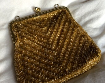 Beautiful Vintage Beaded Clutch