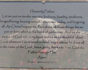 Prayer from Colossians