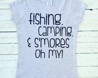 Fishing, Camping, Smores, Oh My T-shirt
