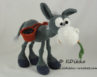 Amigurumi Crochet Pattern - Dusty the Donkey