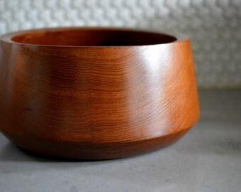 Mid Century Wooden Bowl