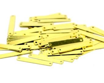 500 Pcs. Raw Brass 4x25 mm Rectangular Stamping Blanks Findings