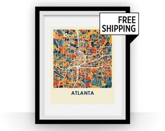 Atlanta Map Print - Full Color Map Poster
