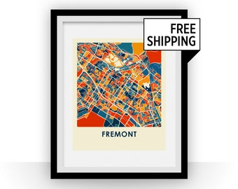 Fremont Map Print - Full Color Map Poster