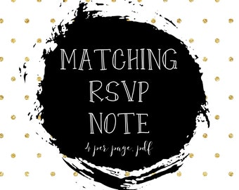 rsvp cards/rsvp tags/matching rsvp cards/printable/party package/party set