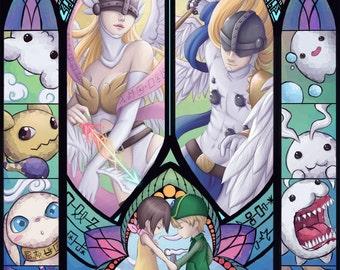 Digimon Angemon Angewomon Kari TK
