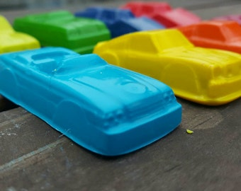Toy Car Crayons set of 32 - party favors