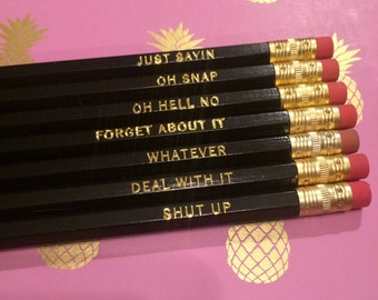 Exclamatory Remarks Pencil Set of 7