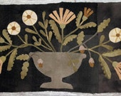 Primitive Wool Applique Pattern - Homestead Bouquet by Maggie Bonanomi