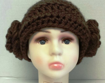 Star Wars Cosplay, Princess Leia hat, photo op hat, Star Wars Beanie, Costume Hat, Gifts for Her, Halloween Hat, Baby Photo Prop