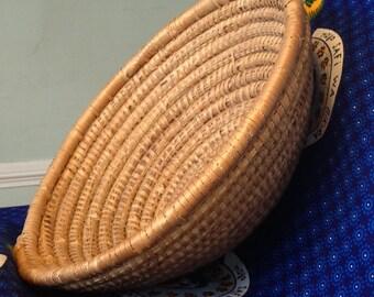 Natural Woven Basket, Handmade in Uganda
