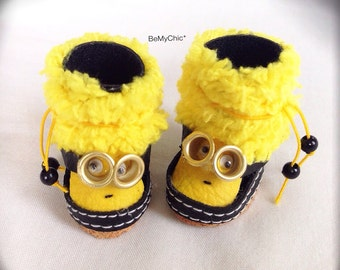 Cute Handmade Shoes for Blythe Lati Yellow Pukifee Doll - Cute Minion
