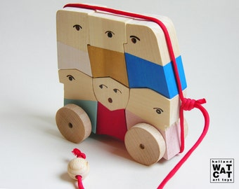 Rush Hour wooden puzzle toy