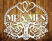 Mr & Mrs - CYO papercutting template