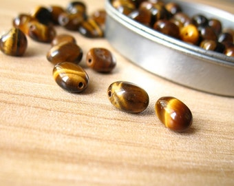 Polished tiger eye beads,nature gemstone,brown,irregular beads,semi precious,chips,nugget,jewelry supplies,components 30pcs