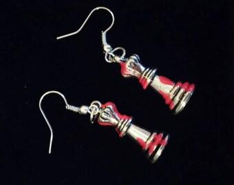 Bloody Queen Chess Piece Earrings