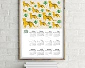 Tigers illustration 2016 wall calendar