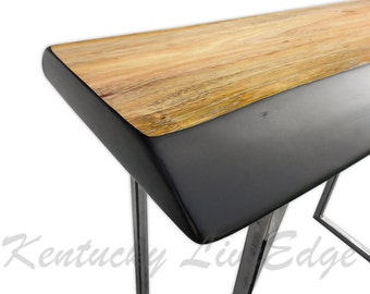 live edge sofa table console table foyer table modern industrial - Tall Console Table