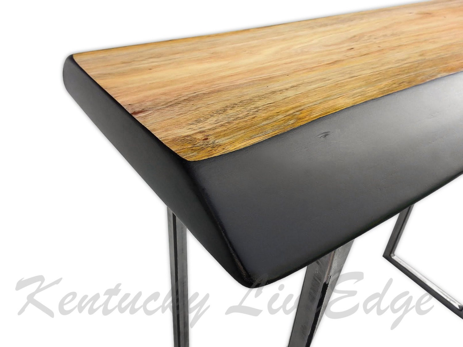 Live Edge Foyer Table : Live edge sofa table console foyer modern