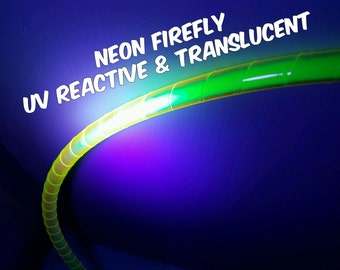 """1""""  UV Neon Firefly Color Shifting and Translucent Hula Hoop Tape"""