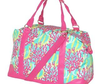 Overnight Tote Bag   Personalized Tote Reef   Teachers Gift   Weekender Tote Bag   Weekender Bag   Reef Overnight Bag Hot Pink