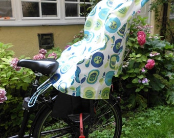 Rain cover for the child bicycle seat