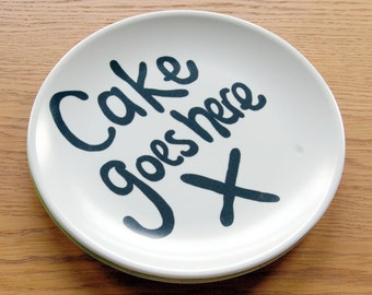 Cake Goes Here Melamine Plate