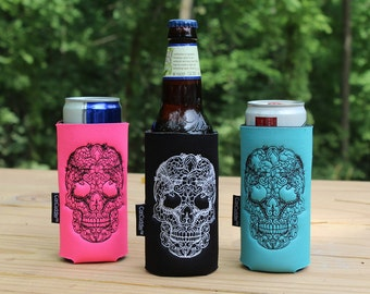 Sugar Skull - Sugar Skull Gift - Day of the Dead - Skully- One can size free gift KOOZIES® with purchase of Can Cuddler®
