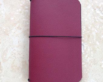 ClassicJot - Currant Wine - Leather Traveler's Notebook/Fauxdori