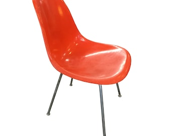 Orange Fiberglass Herman Miller Fiberglass Chair