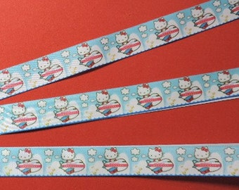 Clearance ribbon - Hello Kitty airplane ribbon - 2 yards