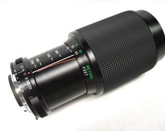 Vivitar 22180820, 75-205 f/3.8 zoom lens for Nikon AI mount
