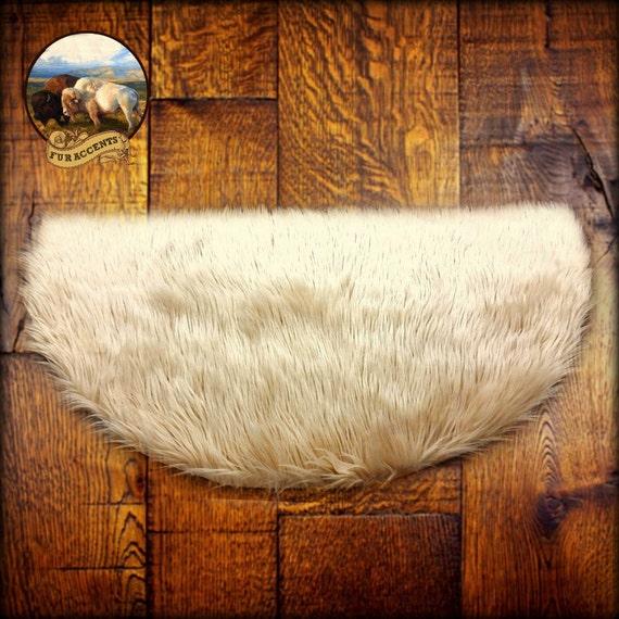 Soft Beige Tan Sheepskin Rug Classic Half Round By FurAccents