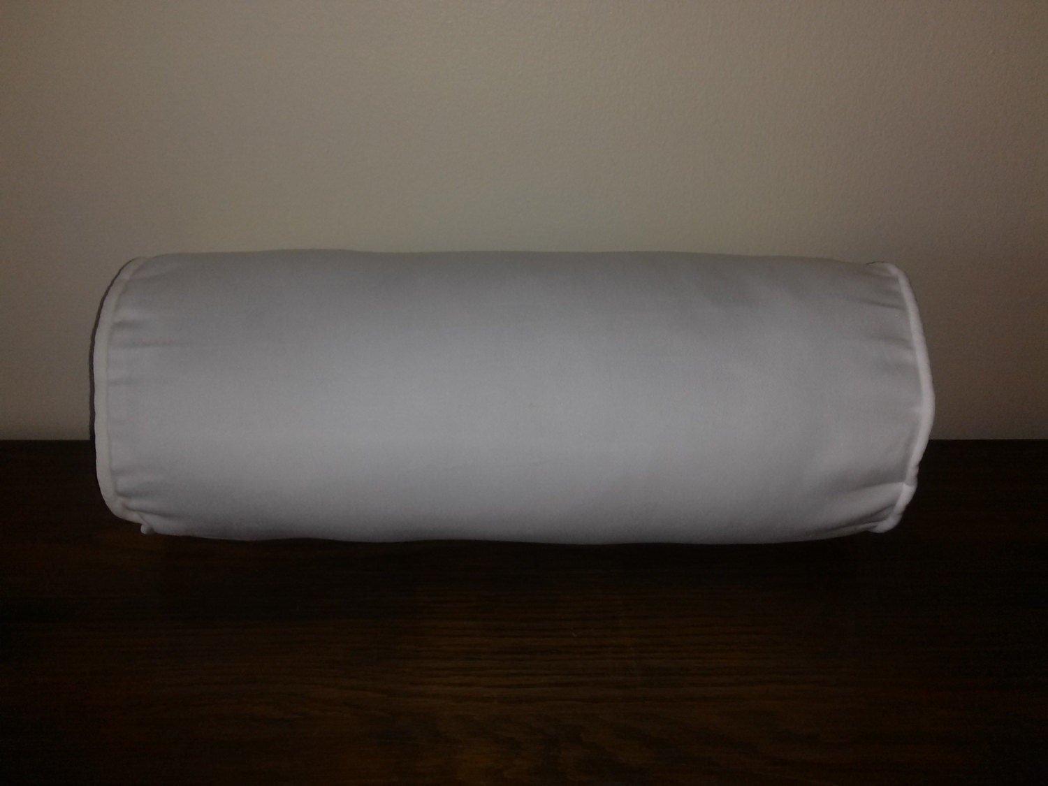 White bolster pillow cover white cotton twill by Sew bolster pillow cover