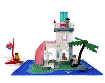 Lego Dolphin Point, 1995, Vintage Toys, White, Blue, Pink