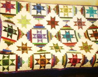 Scrappy Lap Quilt/Sofa Throw