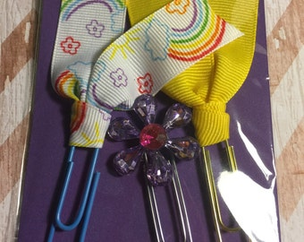 Ribbon and Flower Paperclip