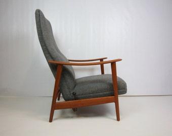 Mid Century Modern Danish Teak Reclining Lounge Chair SUMMER SALE ITEM