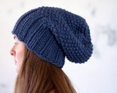 Slouchy Hat Knitting Pattern - REVERENCE - Woman's Knit Hat - a set of INSTRUCTIONS to knit the hat