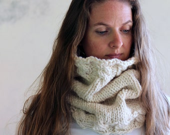 Cable Knit Cowl Knitting Pattern - GRACE - a set of instructions to knit the cowl