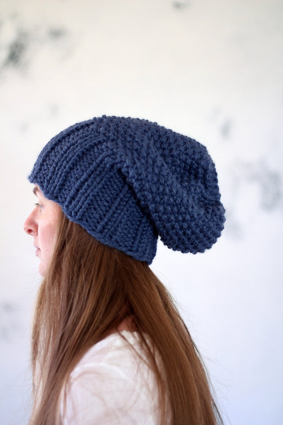 Slouchy Hat Knitting Pattern REVERENCE Womans Knit