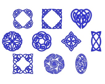 Machine Embroidery Design Instant Download - Celtic Knotwork Collection 2