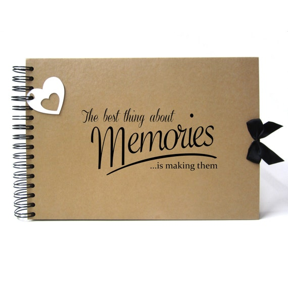 Scrapbook, A5 A4 Best Memories, Card Pages, Photo Album, Keepsake, Landscape