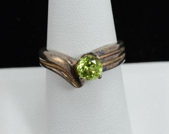 Peridot Sterling Silver Ring