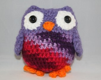 Purple and Pink Owl