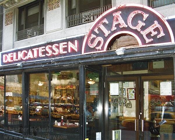 New york photography stage deli restaurant ny wall decor
