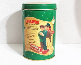 1990 Life Savers Christmas Tin Collectible